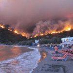 Греческий остров Хиос охвачен огнем